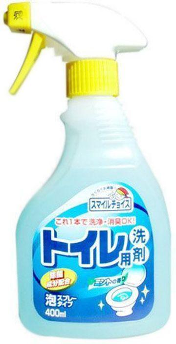 Чистящее средство для унитаза Mitsuei, с эффектом распыления, 400 мл2170758Чистящий гель-спрей для туалета с ароматом мяты эффективно удаляет микробы и загрязнения даже под ободком унитаза. Средство идеально подходит для хозяйственных и бытовых нужд, чистки, дезодорации и удаления устойчивых загрязнений. Устраняет неприятный запах, дезинфицирует, обеспечивает гигиеническую чистоту на длительное время.