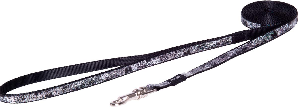 Поводок для собак Rogz Trendy, удлиненный, цвет: серый, ширина 0,8 см0120710Поводок для собак Rogz Trendy с веселым и ярким дизайном очень прочный и гибкий.Светоотражающие материалы для обеспечения лучшей видимости собаки в темное время суток.