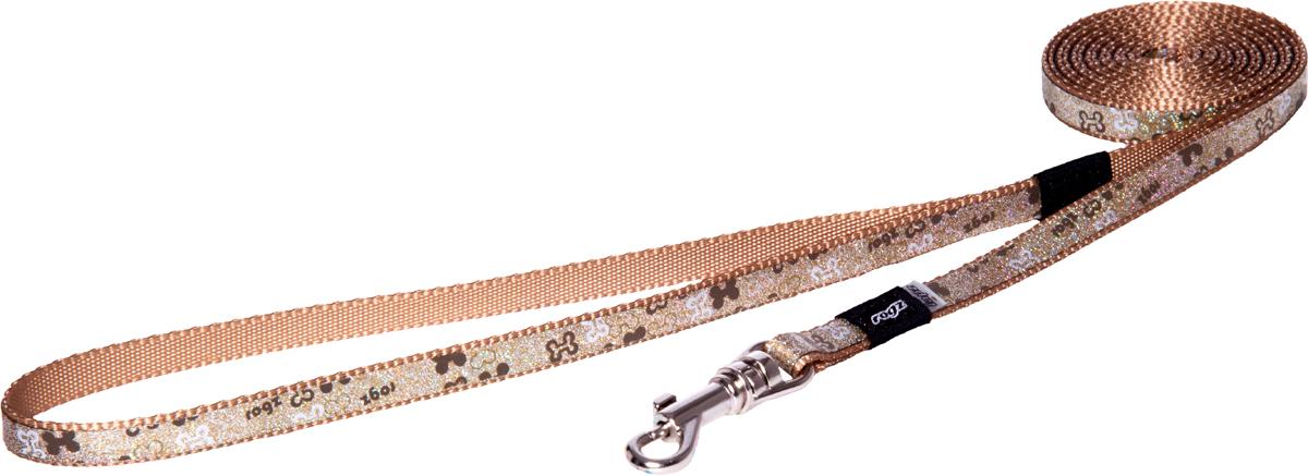 Поводок для собак Rogz Trendy, удлиненный, цвет: коричневый, ширина 0,8 см12171996Поводок для собак Rogz Trendy с веселым и ярким дизайном очень прочный и гибкий.Светоотражающие материалы для обеспечения лучшей видимости собаки в темное время суток.