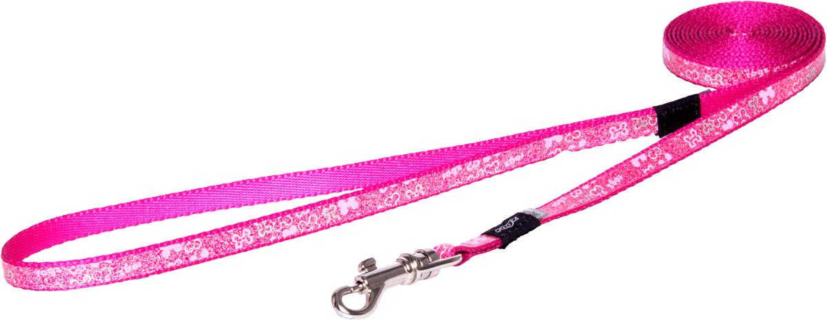 Поводок для собак Rogz Trendy, удлиненный, цвет: розовый, ширина 0,8 смHLL520KПоводок для собак Rogz Trendy с веселым и ярким дизайном очень прочный и гибкий.Светоотражающие материалы для обеспечения лучшей видимости собаки в темное время суток.