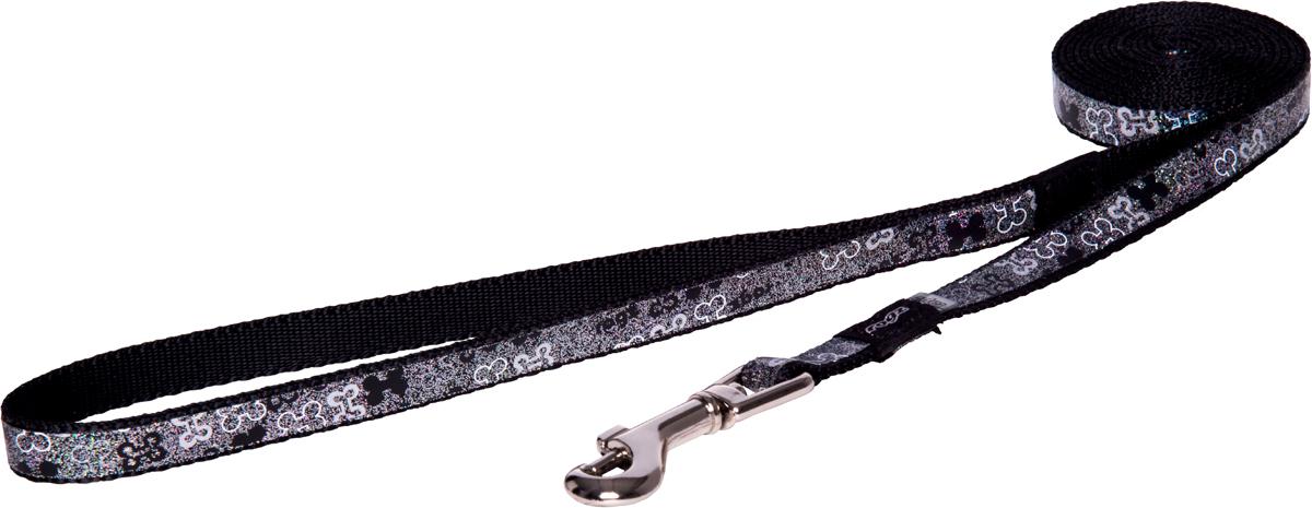 Поводок для собак Rogz Trendy, удлиненный, цвет: серый, ширина 1,2 см0120710Поводок для собак Rogz Trendy с веселым и ярким дизайном очень прочный и гибкий.Светоотражающие материалы для обеспечения лучшей видимости собаки в темное время суток.