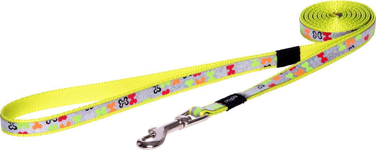 Поводок для собак Rogz Trendy, удлиненный, цвет: салатовый, ширина 1,2 смHLL521LПоводок для собак Rogz Trendy с веселым и ярким дизайном очень прочный и гибкий.Светоотражающие материалы для обеспечения лучшей видимости собаки в темное время суток.