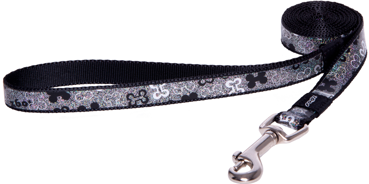 Поводок для собак Rogz Trendy, удлиненный, цвет: серый, ширина 1,6 см0120710Поводок для собак Rogz Trendy с веселым и ярким дизайном очень прочный и гибкий.Светоотражающие материалы для обеспечения лучшей видимости собаки в темное время суток.