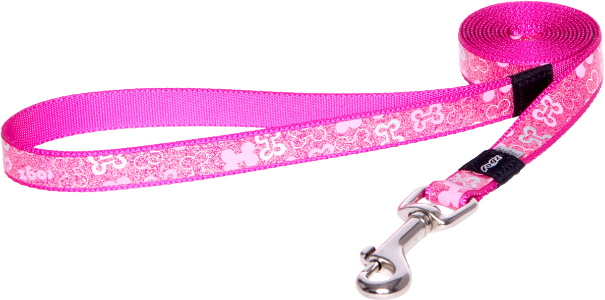 Поводок для собак Rogz Trendy, удлиненный, цвет: розовый, ширина 1,6 смHLL523KПоводок для собак Rogz Trendy с веселым и ярким дизайном очень прочный и гибкий.Светоотражающие материалы для обеспечения лучшей видимости собаки в темное время суток.