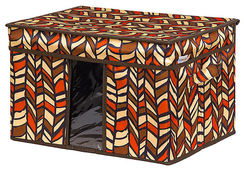 Кофр для хранения вещей EL Casa Африка, складной, 40 х 30 х 25 см20736Кофр для хранения с ручками. Прозрачная вставка позволяет видеть содержимое кофра. Благодаря эстетичному дизайну кофр гармонично смотрится в любом интерьере.