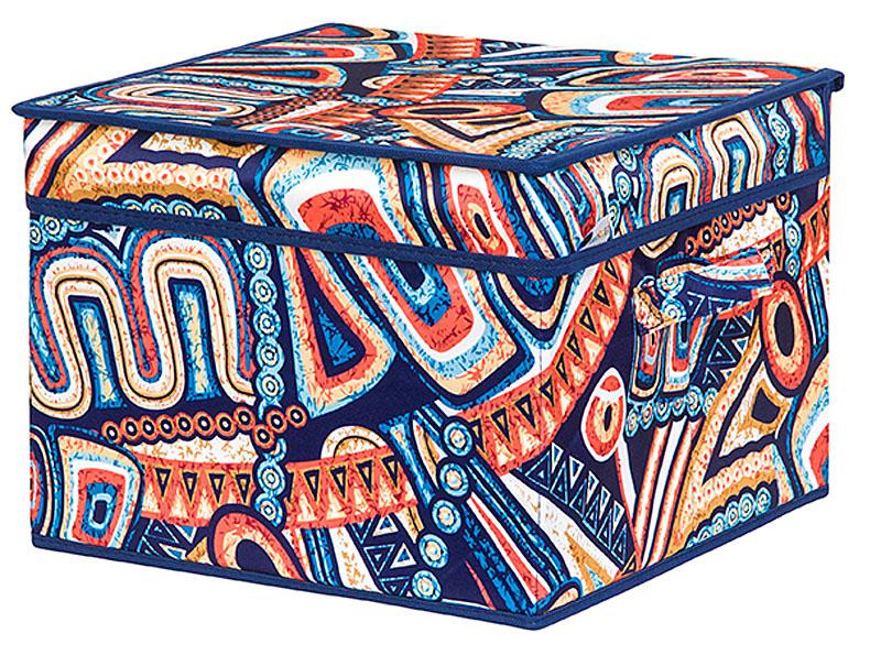 Кофр для хранения вещей EL Casa Мексика, складной, 32 х 32 х 24 смRG-D31SКофр для хранения представляет собой закрывающуюся крышкой коробку жесткой конструкции, благодаря наличию внутри плотных листов картона. Специально предназначен для защиты Вашей одежды от воздействия негативных внешних факторов: влаги и сырости, моли, выгорания, грязи. Благодаря оригинальному дизайну кофр будет гармонично смотреться в любом интерьере.