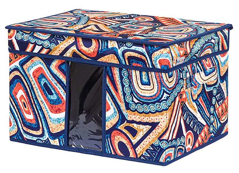 Кофр для хранения вещей EL Casa Мексика, складной, 40 х 30 х 25 см74-0120Кофр для хранения с ручками. Прозрачная вставка позволяет видеть содержимое кофра. Благодаря эстетичному дизайну кофр гармонично смотрится в любом интерьере.