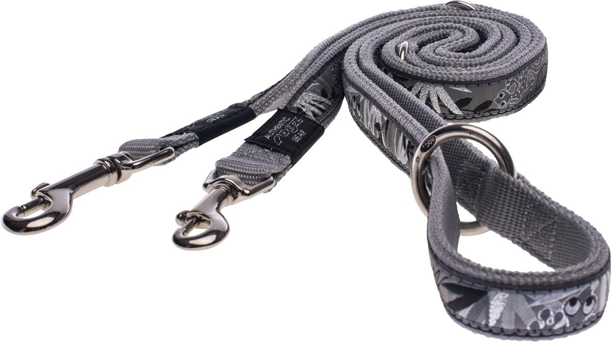 Поводок-перестежка для собак Rogz Fancy Dress, цвет: красный, ширина 1,1 см0120710Поводок перестежка для собак Rogz Fancy Dress с потрясающе красивым орнаментом на прочной тесьме поверх нейлоновой ленты украсит вашего питомца.Очень крепкое и прочное изделие.Многофункциональный поводок-перестежку можно использовать как: поводок для двух собак; короткий, средний или удлиненный поводок (1м, 1.3м, 1.6м); поводок через плечо; временную привязь.Выполненные по заказу литые кольца выдерживают значительные физические нагрузки и имеют хромирование, нанесенное гальваническим способом, что позволяет избежать коррозии и потускнения изделия.