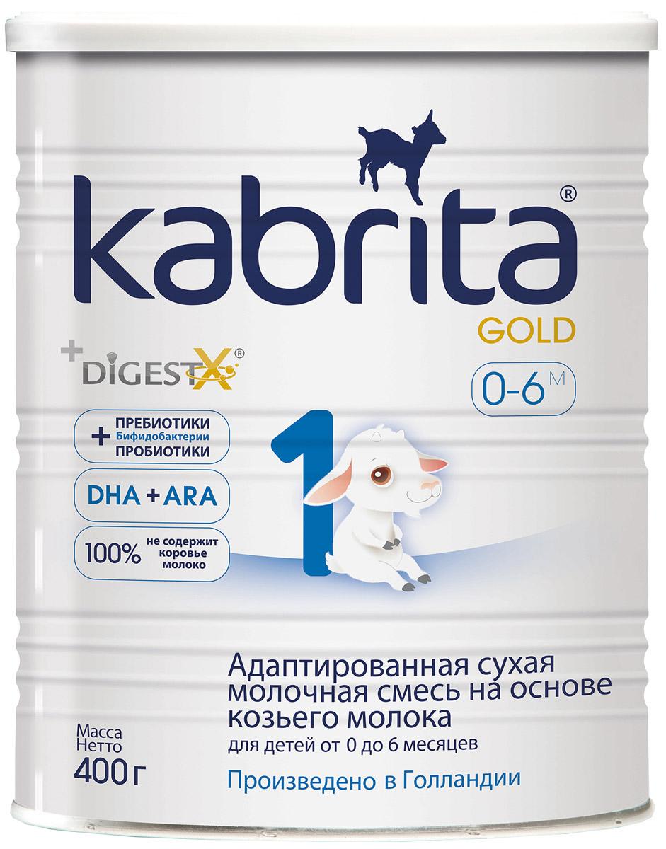 Kabrita Gold 1 смесь для кормления от 0 до 6 месяцев, 400 г0120710Грудное молоко – лучшее питание для вашего малыша! Оно сбалансировано по питательной ценности и способствует росту и защите ребенка. Kabrita 1 Gold – прекрасная альтернатива грудному молоку в случае невозможности продолжать грудное вскармливание. Смесь изготовлена из высококачественного козьего молока, которое легко и быстро усваивается организмом малыша. В состав смеси включены современные функциональные ингредиенты: Комплекс DigestX – копирует жировой профиль грудного молока, что обеспечивает лучшее пищеварение и снижает риск запоров, а также способствует усвоению кальция и повышению энергообмена; Пребиотики ГОС и ФОС + Пробиотики (живые бактерии Bifidobacterium BB-12 ) для естественного укрепления иммунной системы; Нуклеотиды для лучшего иммунного ответа; Омега-3 (DHA) и Омега-6 (ARA) для развития мозга и зрения; 100% не содержит коровьего молока.