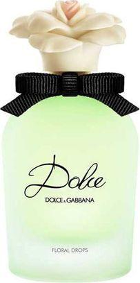Dolce&Gabbana Туалетная вода Dolce Floral Drops, женская, 30 мл1301210Удивительной красоты свежий цветочный аромат. Вдохновленный композицией парфюмерной воды Dolce с ее отличительными нотами белых цветов и белым амариллисом – сердцем аромата. Новая туалетная вода Dolce Floral Drops сочетает эти ингредиенты с живыми, свежими и яркими нотами листьев апельсинового дерева, которые придают новому аромату самобытный характер и дарят свежесть с первого мгновения. Верхние ноты: листья апельсинового дерева, цветы папайи. Ноты сердца аромата: белый амариллис, белый нарцисс, белая кувшинка. Основные ноты: кашмеран, мускусные ноты, сандаловое дерево. Ольфакторная семья: цветочный, свежий цветочный.