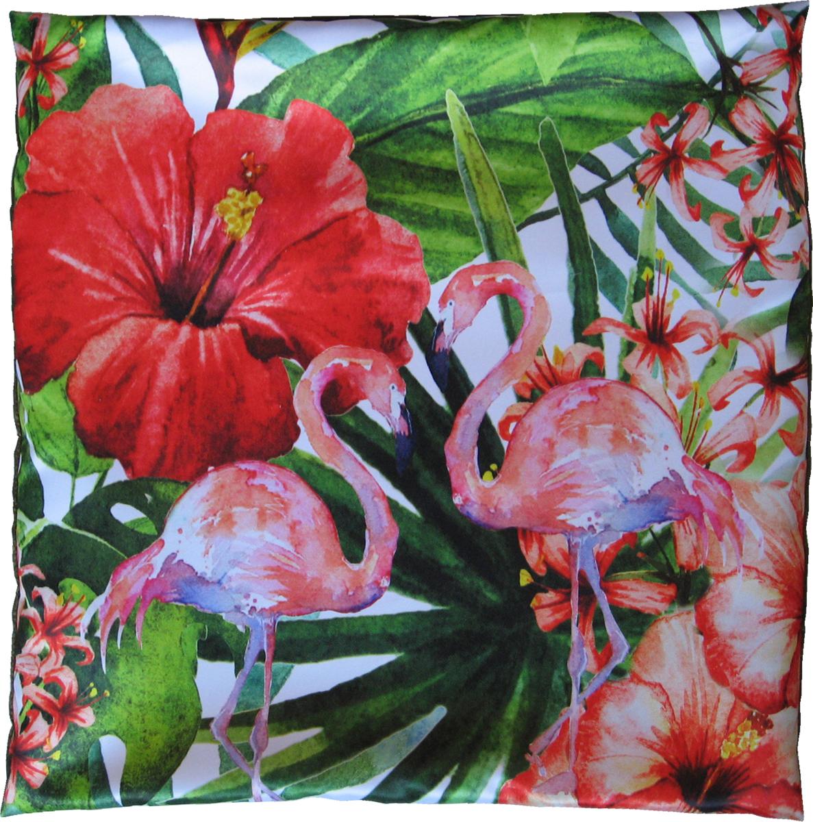 Наволочка декоративная GiftnHome Два фламинго, цвет: красный, 40 х 40 смНВЛ-40 2FlamingoДекоративная наволочка GiftnHome Два фламинго изготовлена из атласа (искусственный шелк). Изделие закрывается на застежку-молнию иоформлено ярким принтом. Подушки с такими наволочками прекрасно дополнят интерьер спальни и гостинойи добавят в обстановку изысканность и роскошь.
