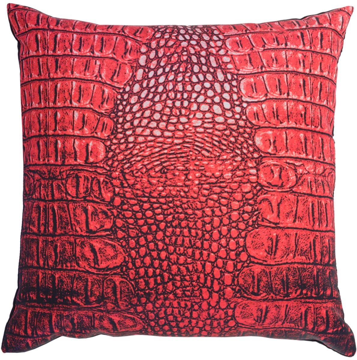Подушка декоративная GiftnHome Крокодил, цвет: красный, 35 х 35 смU210DFПодушка декоративная GiftnHome Крокодил прекрасно дополнит интерьер спальни или гостиной. Чехол подушки выполнен из атласа (искусственный шелк) и оформлен изысканным орнаментом. В качестве наполнителя используется мягкий холлофайбер. Чехол снабжен потайной застежкой-молнией, благодаря чему его легко можно снять и постирать. Красивая подушка создаст атмосферу уюта в доме и станет прекрасным элементом декора.