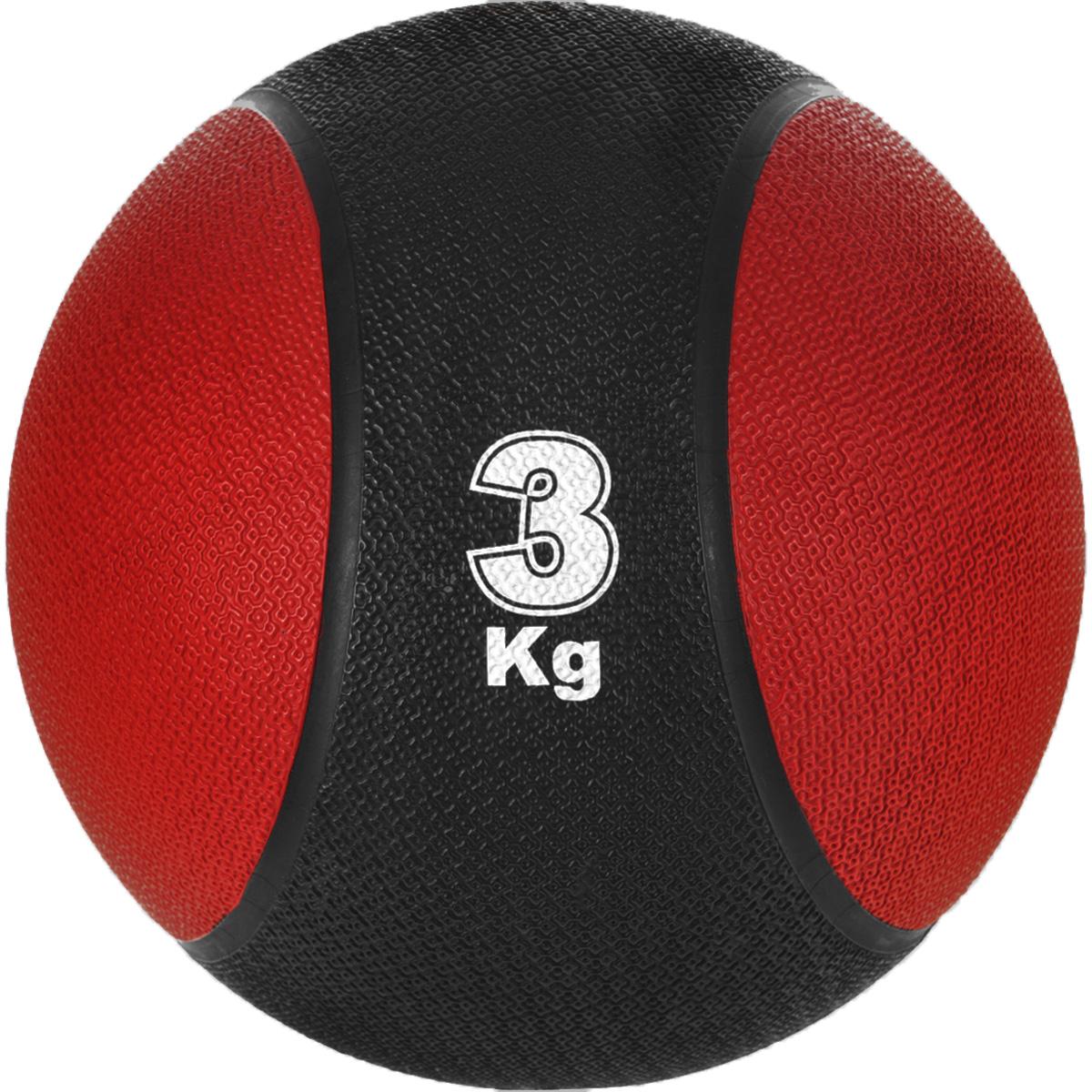 Медицинбол Start Up MBR3, цвет: черный, красный, 3 кг, 22 см мяч футбольный для отдыха start up