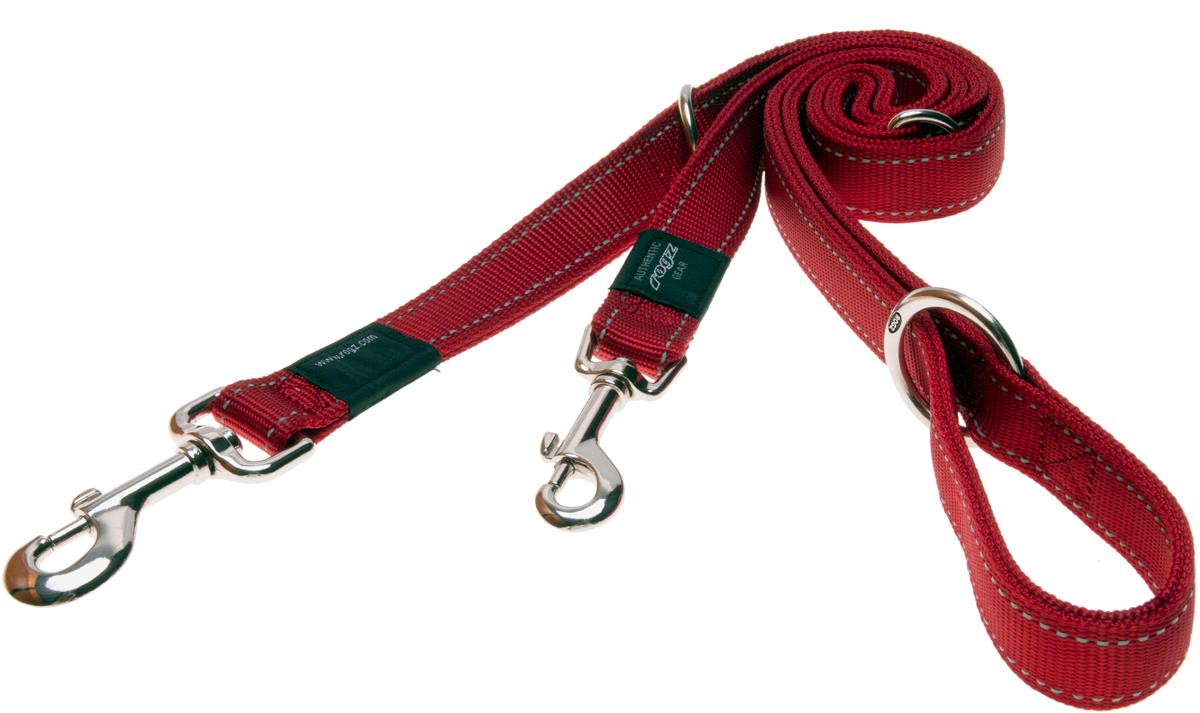 Поводок-перестежка для собак Rogz Utility, цвет: красный, ширина 1,1 см. Размер SOH23/AВидимость ночью. Светоотражающая нить, вплетенная в нейлоновую ленту - для обеспечения лучшей видимости собаки в темное время суток.Выполненные специально по заказу ROGZ литые кольца гальванически хромированы, что позволяет избежать коррозии и