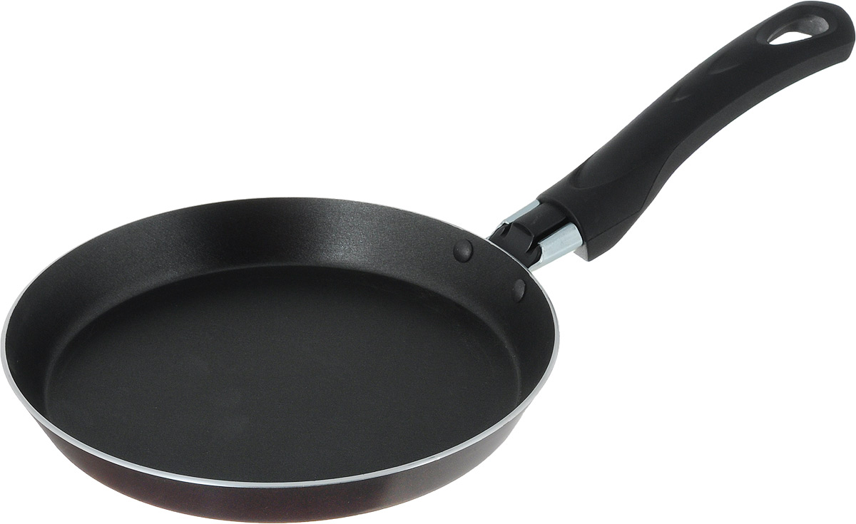 Сковорода для блинов MoulinVilla Домашний, с антипригарным покрытием. Диаметр 18 см391602Сковорода для блинов MoulinVilla Домашний изготовлена из алюминия, который обеспечивает равномерный нагрев. Трехслойное антипригарное покрытие WhitFord на внутренней поверхности посуды полностью устраняет пригорание пищи и ее прилипание к стенкам и дну посуды. Обжаренная в такой посуде пища отлично сохраняет свои вкусовые качества и имеет привлекательный, аппетитный вид. Во время приготовления можно использовать минимальное количество масла и жиров. Сковорода оснащена удобной бакелитовой ручкой с отверстием для подвешивания. Можно использовать на газовых, электрических и стеклокерамических плитах. Можно мыть в посудомоечной машине.Диаметр сковороды (по верхнему краю): 18 см.