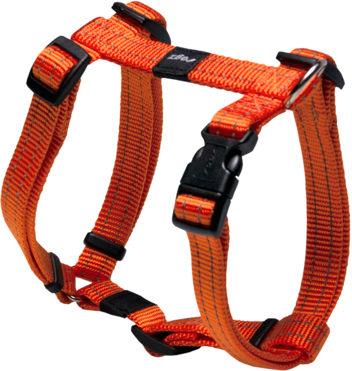 Шлейка для собак Rogz Utility, цвет: оранжевый, ширина 1,6 см. Размер M0120710Шлейка для собак Rogz Utility со светоотражающей нитью, вплетенной в нейлоновую ленту, обеспечивает лучшую видимость собаки в темное время суток. Специальная конструкция пряжки Rog Loc - очень крепкая (система Fort Knox). Замок может быть расстегнут только рукой человека. Технология распределения нагрузки позволяет снизить нагрузку на пряжки, изготовленные из титанового пластика, с помощью правильного и разумного расположения грузовых колец, благодаря чему, даже при самых сильных рывках, изделие не рвется и не деформируется.Выполненные специально по заказу ROGZ литые кольца гальванически хромированы, что позволяет избежать коррозии и потускнения изделия.