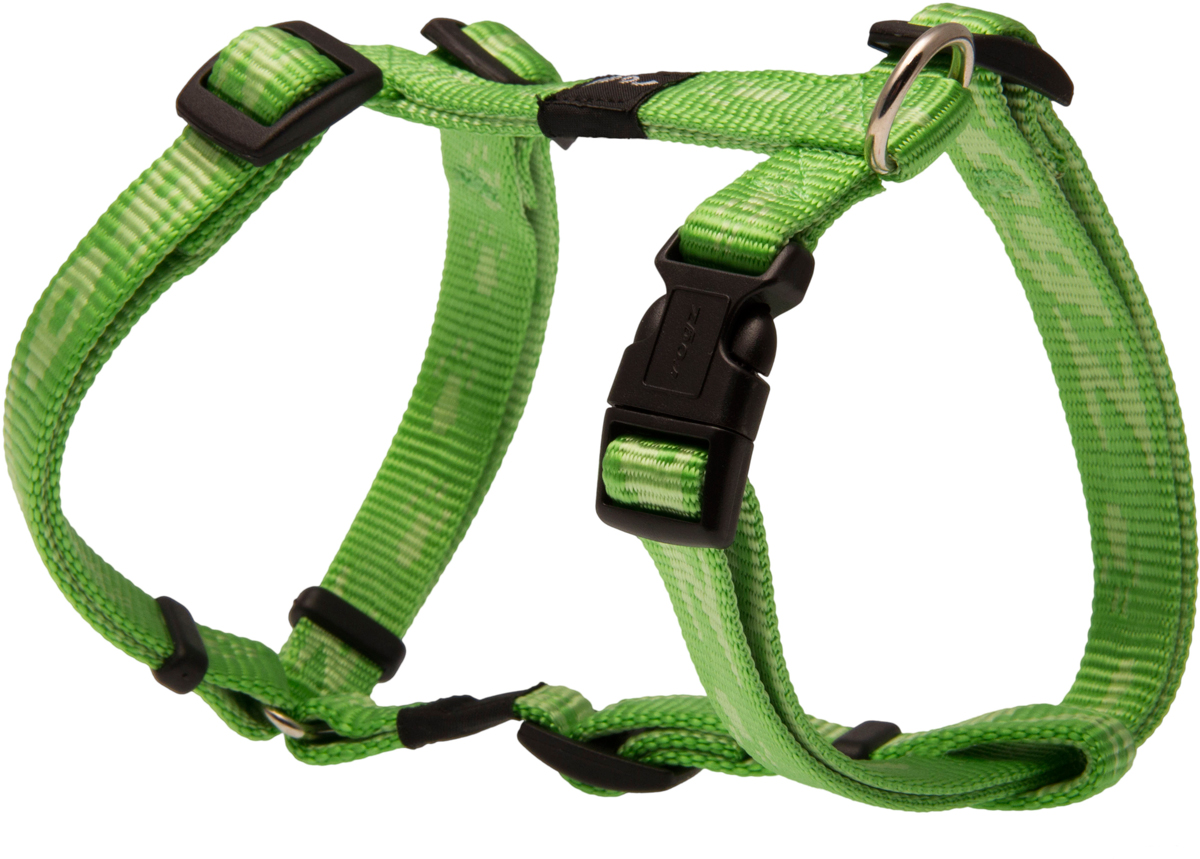 Шлейка для собак Rogz Alpinist, цвет: зеленый, ширина 1,6 см. Размер MSJ23GОсобо мягкая, но очень прочная шлейка для собак Rogz Alpinist обеспечит безопасность на прогулке даже самым активным собакам.Все соединения деталей имеют специальную дополнительную строчку для большей прочности.Специальная конструкция пряжки Rog Loc - очень крепкая (система Fort Knox). Замок может быть расстегнут только рукой человека. Технология распределения нагрузки позволяет снизить нагрузку на пряжки, изготовленные из титанового пластика, с помощью правильного и разумного расположения грузовых колец, благодаря чему, даже при самых сильных рывках, изделие не рвется и не деформируется.Выполненные специально по заказу Rogz литые кольца гальванически хромированы, что позволяет избежать коррозии и потускнения изделия.