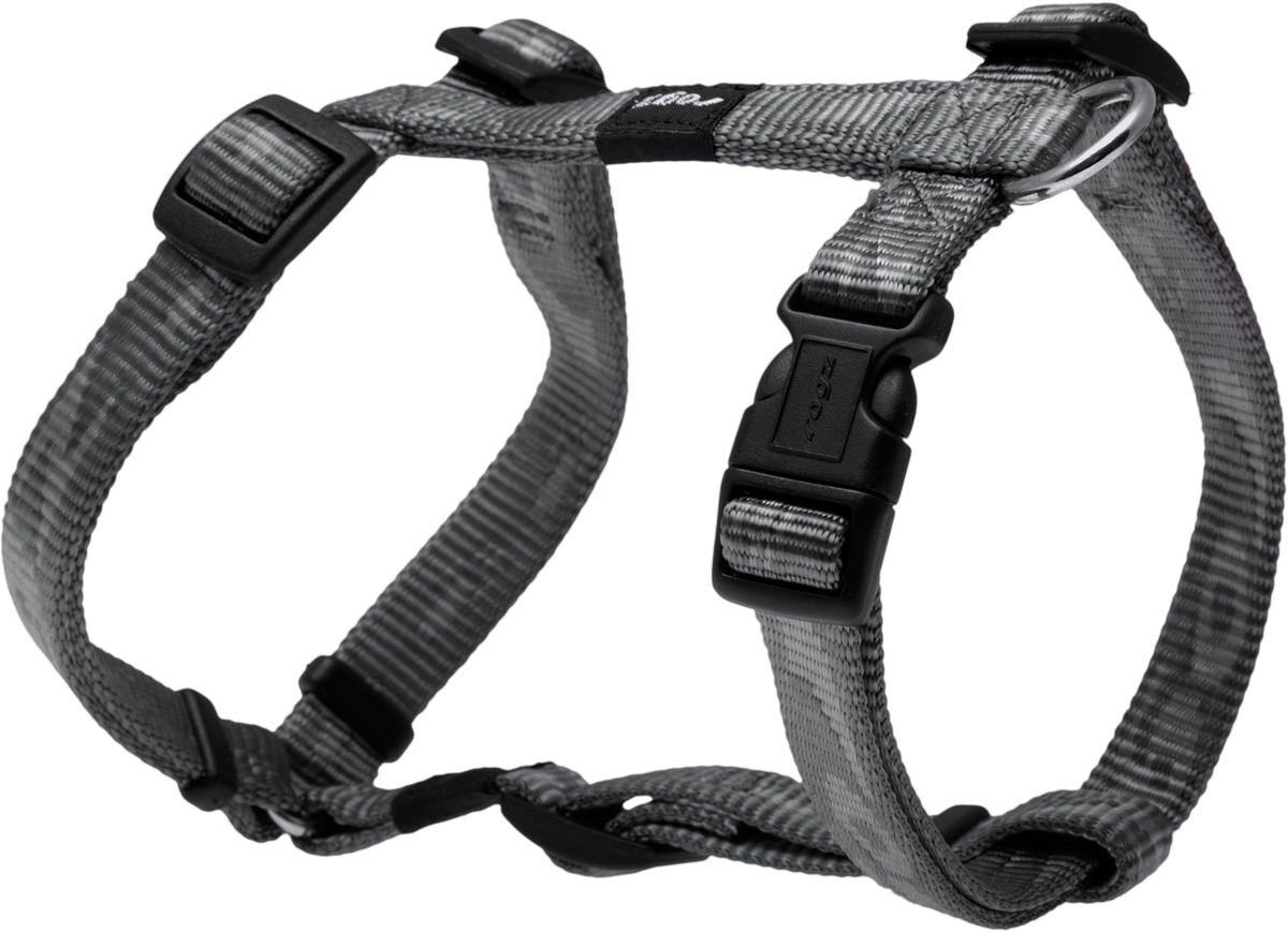 Шлейка для собак Rogz  Alpinist , цвет: серый, ширина 1,6 см. Размер M - Товары для прогулки и дрессировки (амуниция)