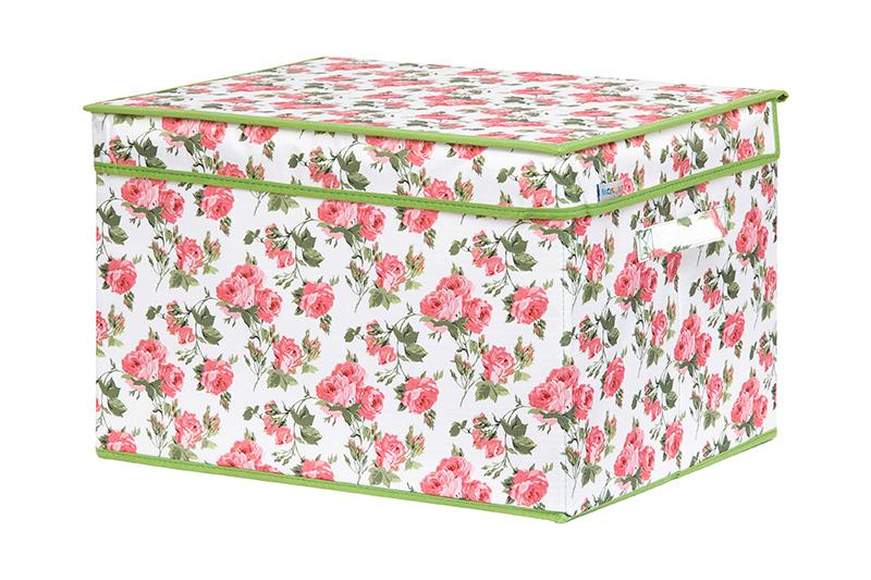 Кофр для хранения вещей EL Casa Розовый рассвет, складной, 45 х 36 х 30 смRG-D31SКофр для хранения представляет собой закрывающуюся крышкой коробку жесткой конструкции, благодаря наличию внутри плотных листов картона. Специально предназначен для защиты Вашей одежды от воздействия негативных внешних факторов: влаги и сырости, моли, выгорания, грязи. Благодаря оригинальному дизайну кофр будет гармонично смотреться в любом интерьере.
