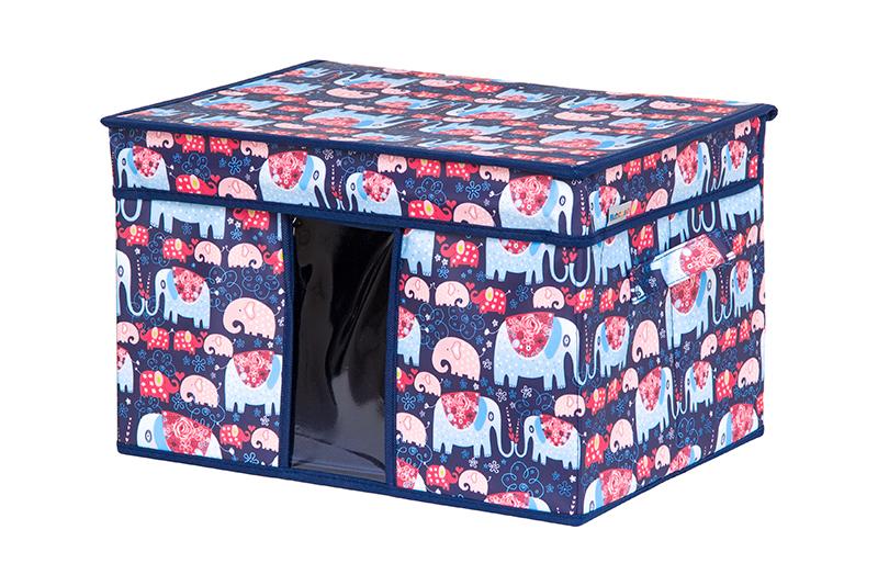 Кофр для хранения вещей EL Casa Слоники, складной, 40 х 30 х 25 смS03301004Кофр для хранения с ручками. Прозрачная вставка позволяет видеть содержимое кофра. Благодаря эстетичному дизайну кофр гармонично смотрится в любом интерьере.