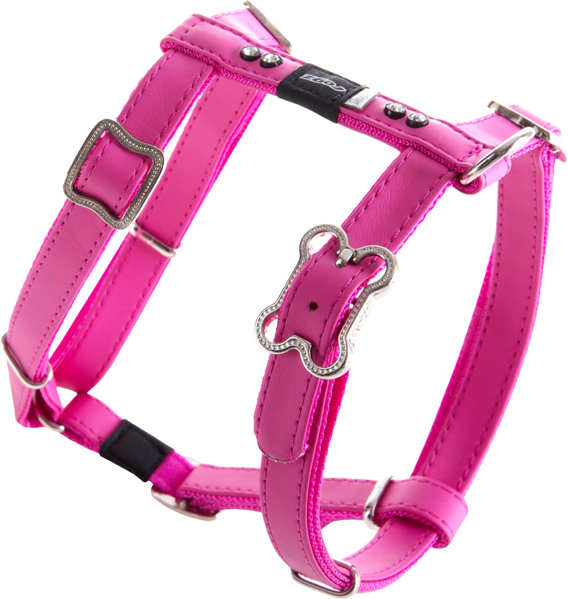 Шлейка для собак Rogz Luna, цвет: розовый, ширина 1,6 см. Размер M0120710Шлейка для собак Rogz Luna обладает нежнейшей мягкостью и гибкостью.Авторский дизайн, яркие цвета, изысканные декоративные элементы со стразами.Шлейка подчеркнет индивидуальность вашей собаки.