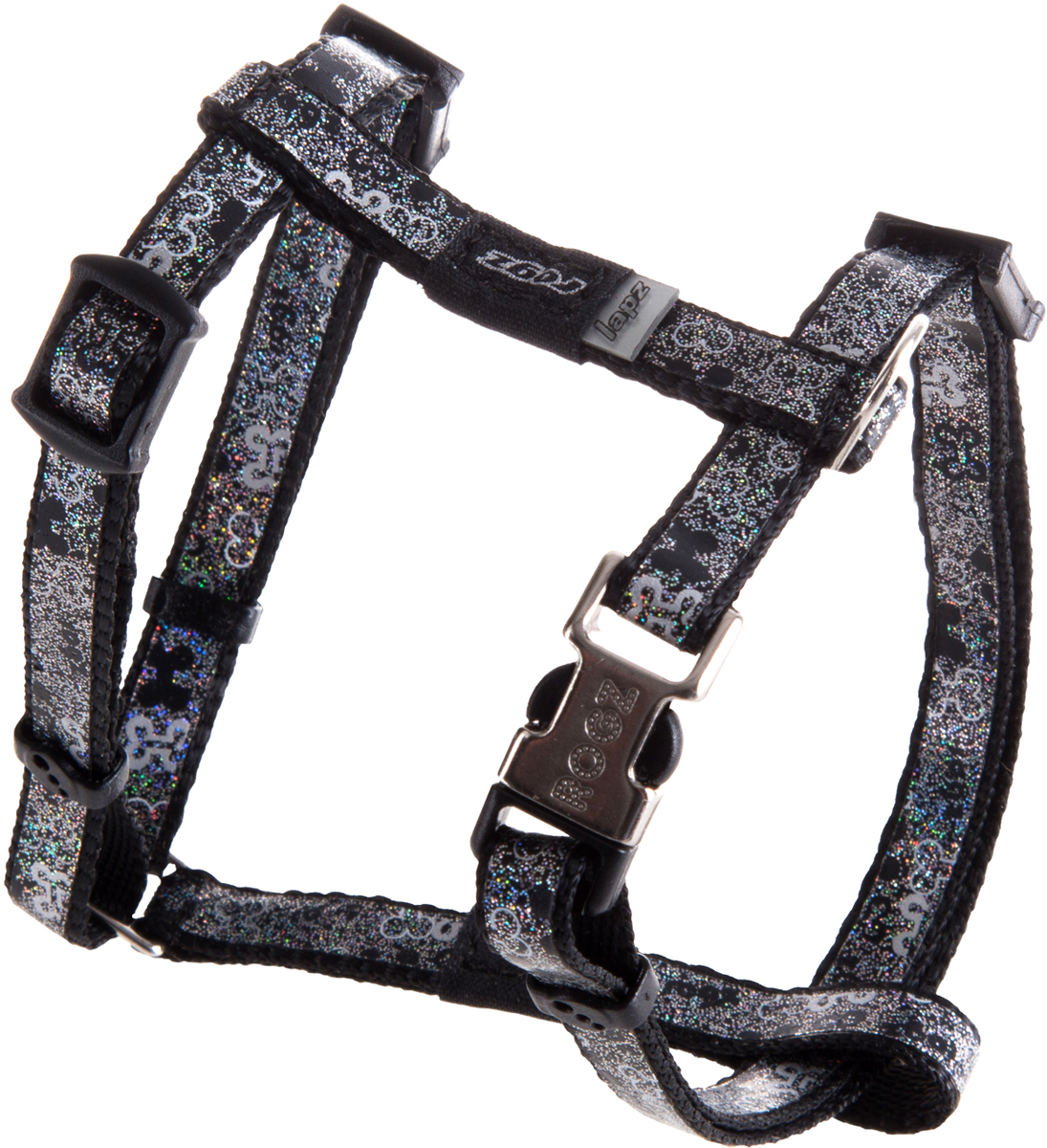 Шлейка для собак Rogz  Trendy , цвет: серый, ширина 0,8 см. Размер XS - Товары для прогулки и дрессировки (амуниция)