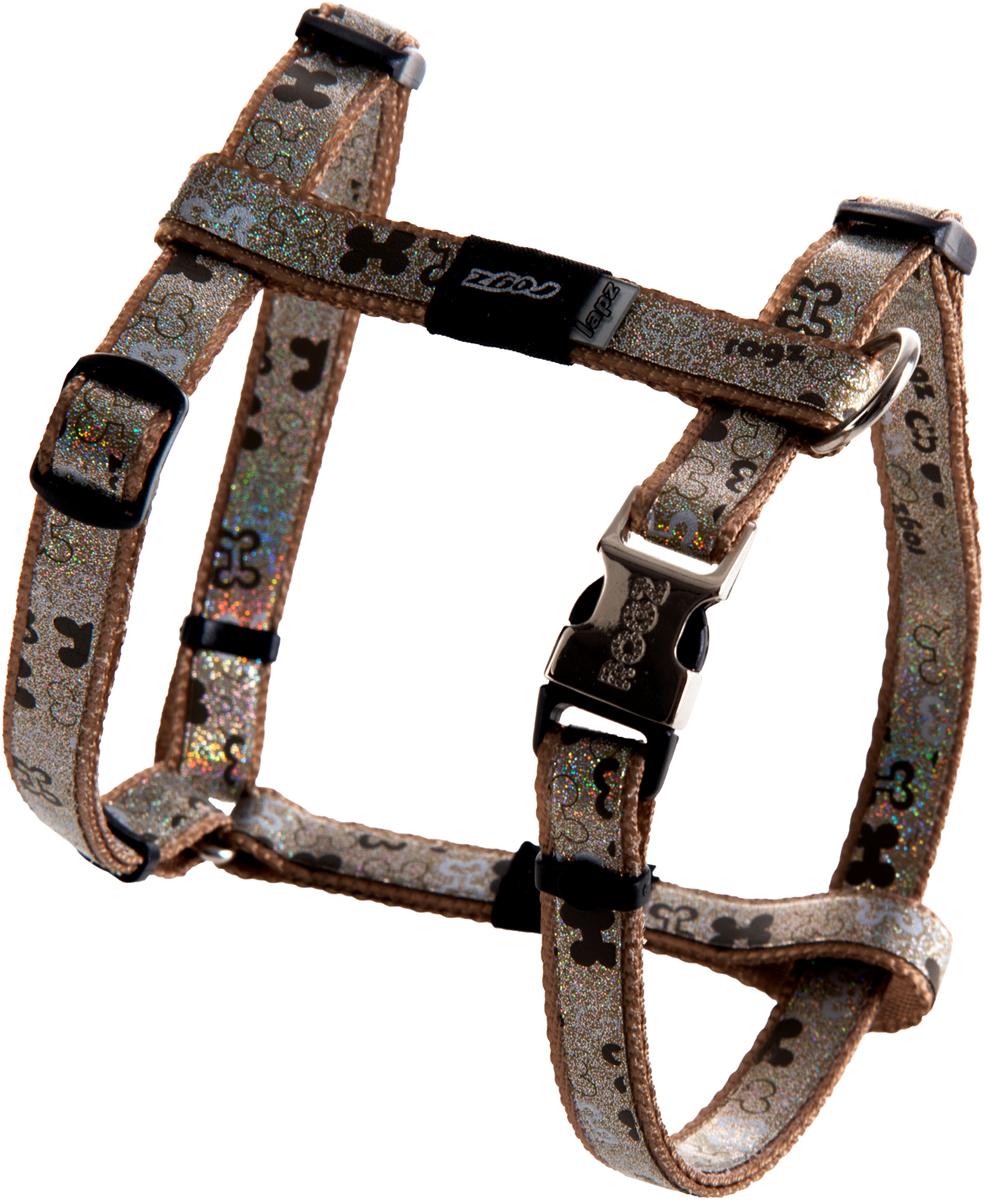 Шлейка для собак Rogz Trendy, цвет: коричневый, ширина 1,2 см. Размер SSJ521JШлейка для собак Rogz Trendy обладает нежнейшей мягкостью и гибкостью.Светоотражающие материалы для обеспечения лучшей видимости собаки в темное время суток.
