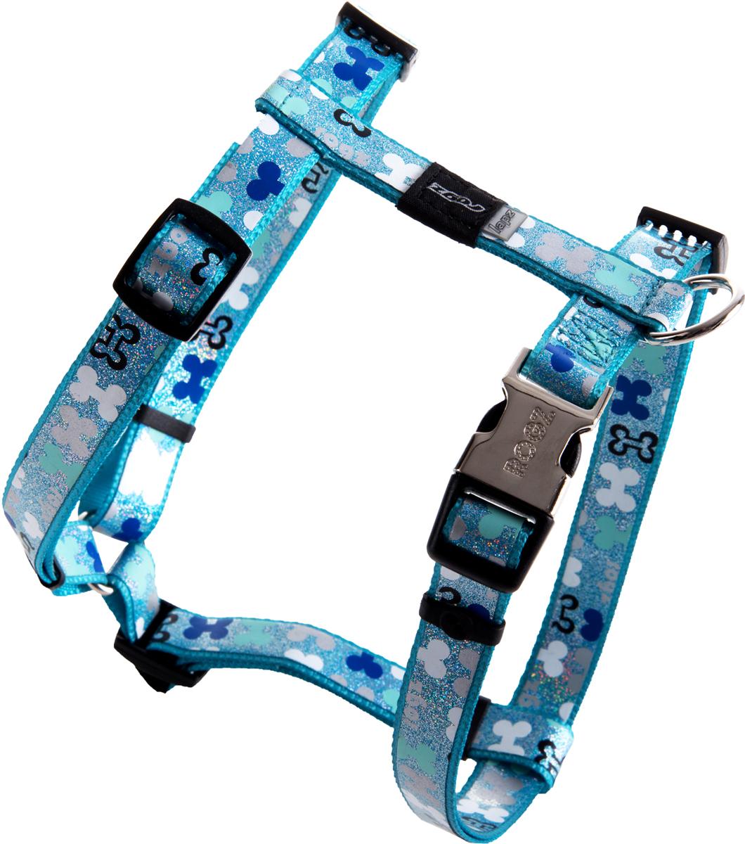Шлейка для собак Rogz Trendy, цвет: голубой, ширина 1,6 см. Размер MSJ523BШлейка для собак Rogz Trendy обладает нежнейшей мягкостью и гибкостью.Светоотражающие материалы для обеспечения лучшей видимости собаки в темное время суток.