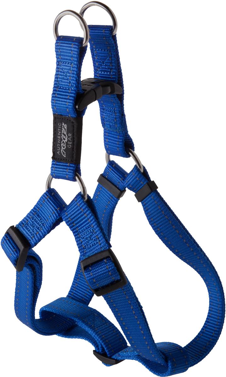 Шлейка для собак Rogz Utility, цвет: синий, ширина 2,5 см. Размер XL. SSJ05SSJ05BШлейка для собак Rogz Utility со светоотражающей нитью, вплетенной в нейлоновую ленту, обеспечивает лучшую видимость собаки в темное время суток. Специальная конструкция пряжки Rog Loc - очень крепкая (система Fort Knox). Замок может быть расстегнут только рукой человека. Технология распределения нагрузки позволяет снизить нагрузку на пряжки, изготовленные из титанового пластика, с помощью правильного и разумного расположения грузовых колец, благодаря чему, даже при самых сильных рывках, изделие не рвется и не деформируется.Выполненные специально по заказу ROGZ литые кольца гальванически хромированы, что позволяет избежать коррозии и потускнения изделия.