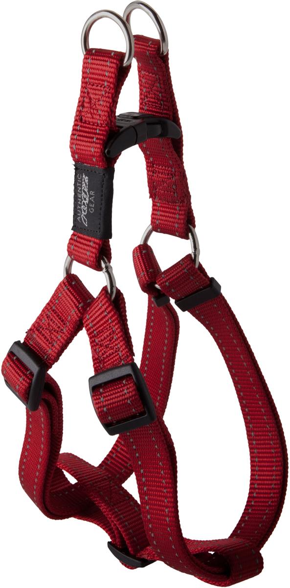 Шлейка для собак Rogz Utility, цвет: красный, ширина 2,5 см. Размер XL. SSJ050120710Шлейка для собак Rogz Utility со светоотражающей нитью, вплетенной в нейлоновую ленту, обеспечивает лучшую видимость собаки в темное время суток. Специальная конструкция пряжки Rog Loc - очень крепкая (система Fort Knox). Замок может быть расстегнут только рукой человека. Технология распределения нагрузки позволяет снизить нагрузку на пряжки, изготовленные из титанового пластика, с помощью правильного и разумного расположения грузовых колец, благодаря чему, даже при самых сильных рывках, изделие не рвется и не деформируется.Выполненные специально по заказу ROGZ литые кольца гальванически хромированы, что позволяет избежать коррозии и потускнения изделия.