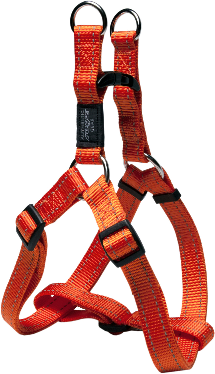 Шлейка для собак Rogz Utility, цвет: оранжевый, ширина 2,5 см. Размер XL. SSJ0592187Шлейка для собак Rogz Utility со светоотражающей нитью, вплетенной в нейлоновую ленту, обеспечивает лучшую видимость собаки в темное время суток. Специальная конструкция пряжки Rog Loc - очень крепкая (система Fort Knox). Замок может быть расстегнут только рукой человека. Технология распределения нагрузки позволяет снизить нагрузку на пряжки, изготовленные из титанового пластика, с помощью правильного и разумного расположения грузовых колец, благодаря чему, даже при самых сильных рывках, изделие не рвется и не деформируется.Выполненные специально по заказу ROGZ литые кольца гальванически хромированы, что позволяет избежать коррозии и потускнения изделия.