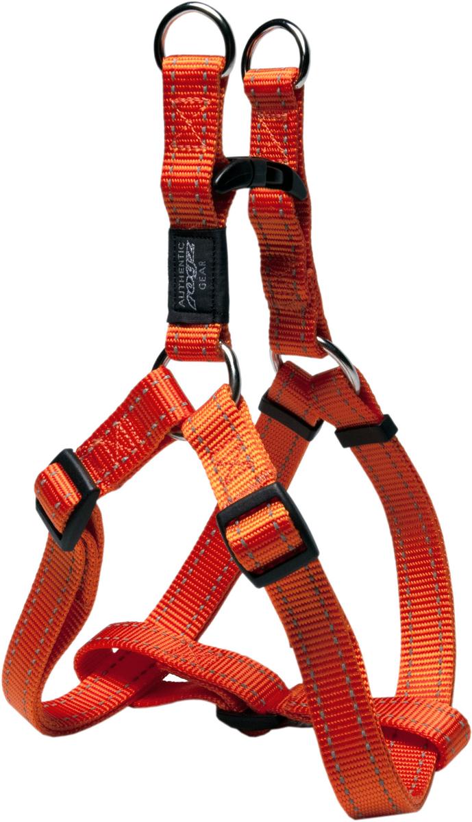 Шлейка для собак Rogz Utility, цвет: оранжевый, ширина 2 см. Размер L. SSJ06SSJ06DШлейка для собак Rogz Utility со светоотражающей нитью, вплетенной в нейлоновую ленту, обеспечивает лучшую видимость собаки в темное время суток. Специальная конструкция пряжки Rog Loc - очень крепкая (система Fort Knox). Замок может быть расстегнут только рукой человека. Технология распределения нагрузки позволяет снизить нагрузку на пряжки, изготовленные из титанового пластика, с помощью правильного и разумного расположения грузовых колец, благодаря чему, даже при самых сильных рывках, изделие не рвется и не деформируется.Выполненные специально по заказу ROGZ литые кольца гальванически хромированы, что позволяет избежать коррозии и потускнения изделия.