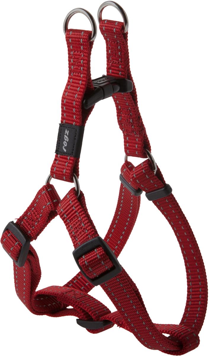 Шлейка разъемная для собак Rogz  Utility , цвет: красный, ширина 1,6 см. Размер M