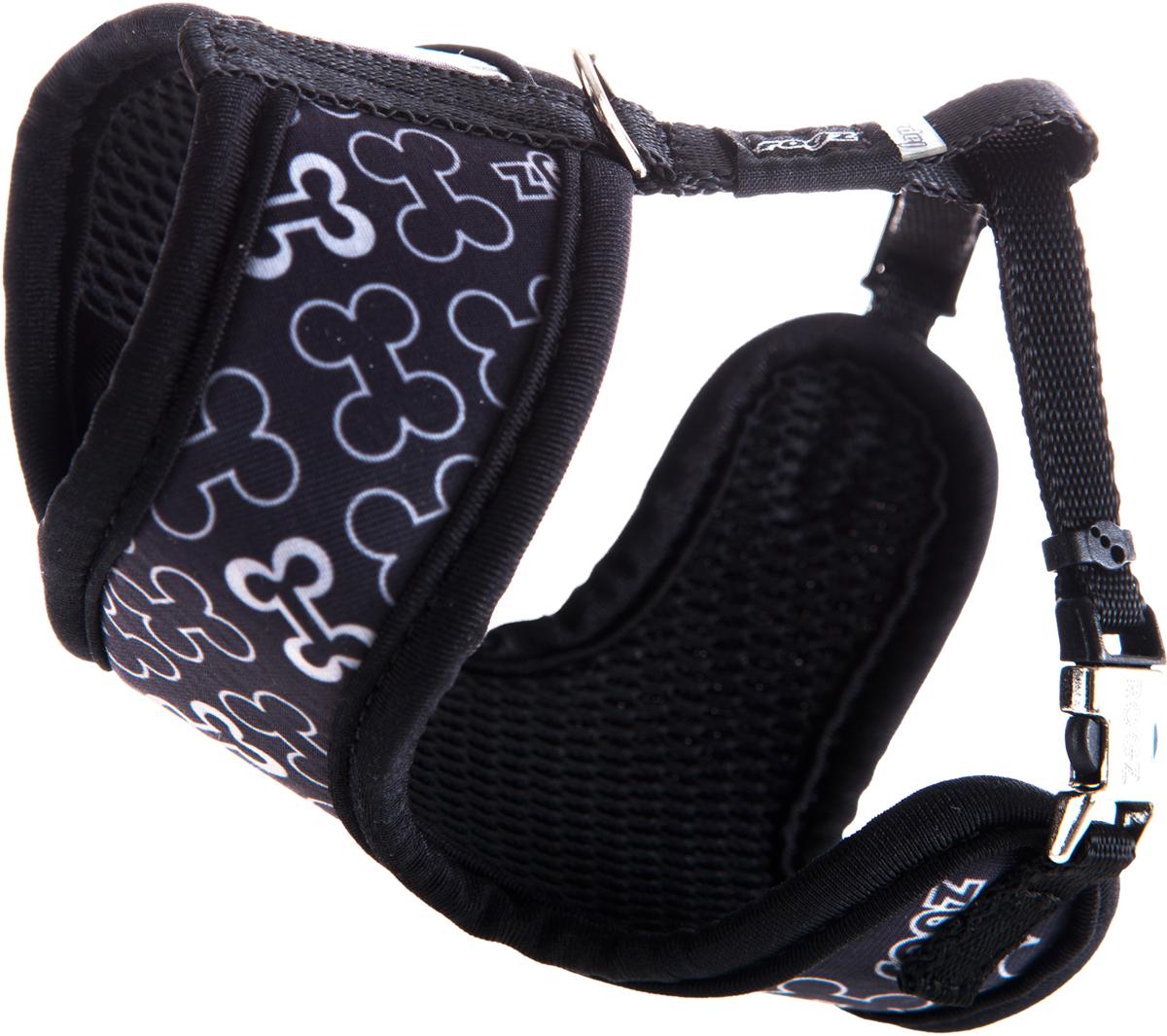 Шлейка-манишка для собак Rogz Trendy, цвет: черный. Размер XSWR520AШлейка-манишка для собак Rogz Trendy - мягкость для шеи, удобство и комфорт.Сохраняет шерстку в идеальном состоянии.Широкие элементы изделия позволят равномерно распределить нагрузку на шлейку при рывках, обеспечивая, тем самым, здоровье любимцу и целостность изделию.Шлейка полностью отражает свет.