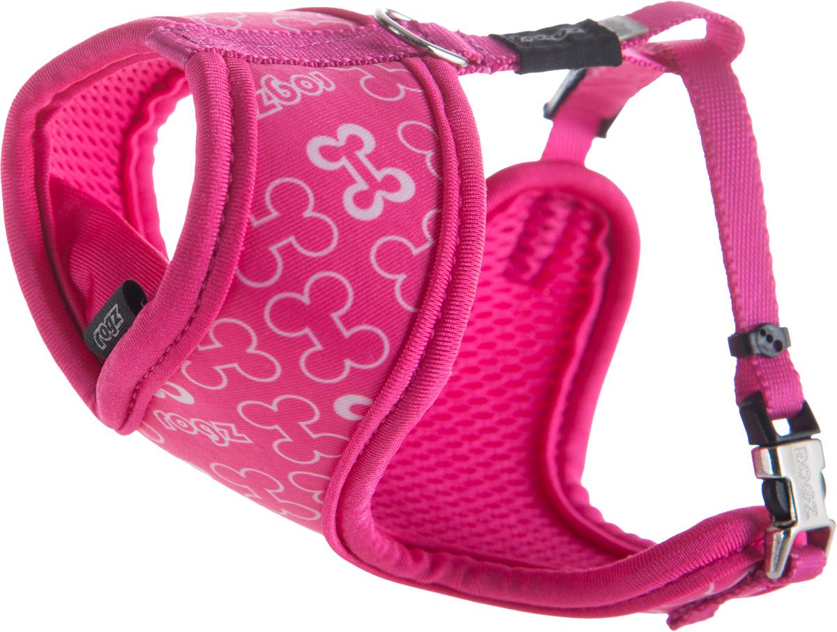 Шлейка-манишка для собак Rogz Trendy, цвет: розовый. Размер XS0120710Шлейка-манишка для собак Rogz Trendy - мягкость для шеи, удобство и комфорт.Сохраняет шерстку в идеальном состоянии.Широкие элементы изделия позволят равномерно распределить нагрузку на шлейку при рывках, обеспечивая, тем самым, здоровье любимцу и целостность изделию.Шлейка полностью отражает свет.