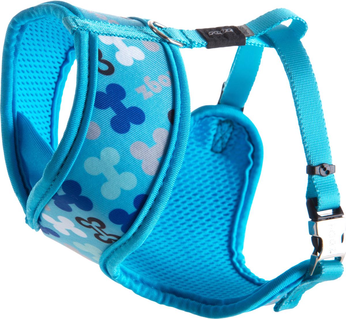 Шлейка-манишка для собак Rogz Trendy, цвет: голубой. Размер SWR521BШлейка-манишка для собак Rogz Trendy - мягкость для шеи, удобство и комфорт.Сохраняет шерстку в идеальном состоянии.Широкие элементы изделия позволят равномерно распределить нагрузку на шлейку при рывках, обеспечивая, тем самым, здоровье любимцу и целостность изделию.Шлейка полностью отражает свет.