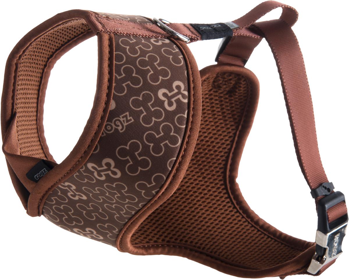Шлейка-манишка для собак Rogz Trendy, цвет: коричневый. Размер MWR523JШлейка-манишка для собак Rogz Trendy - мягкость для шеи, удобство и комфорт.Сохраняет шерстку в идеальном состоянии.Широкие элементы изделия позволят равномерно распределить нагрузку на шлейку при рывках, обеспечивая, тем самым, здоровье любимцу и целостность изделию.Шлейка полностью отражает свет.