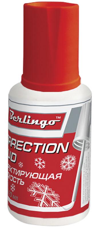 Berlingo Корректирующая жидкость Premium улучшенная формула с кистью 20 мл Fkg_20002
