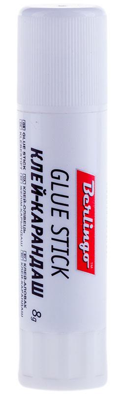 Berlingo Клей-карандаш улучшенная формула 8 гFS-00102Улучшенная формула. Склеивает изделия из бумаги, картона, ткани, фотографии. Экономичен в использовании. Не токсичен, не содержит растворителей. Надежный колпачок предохраняет от высыхания. Упаковка в мини-дисплей.