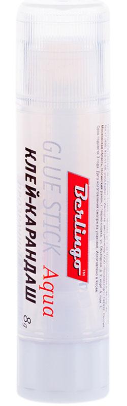 Berlingo Клей-карандаш прозрачный 8 гFS-00101Прозрачный клей-карандаш предназначен для склеивания всех видов бумаг, картона, фотографий. Бумага не увлажняется, не деформируется, проклеивается ровно, без комков и волокон.Клей не токсичен, не содержит растворителей. Надежный колпачок предохраняет от высыхания.