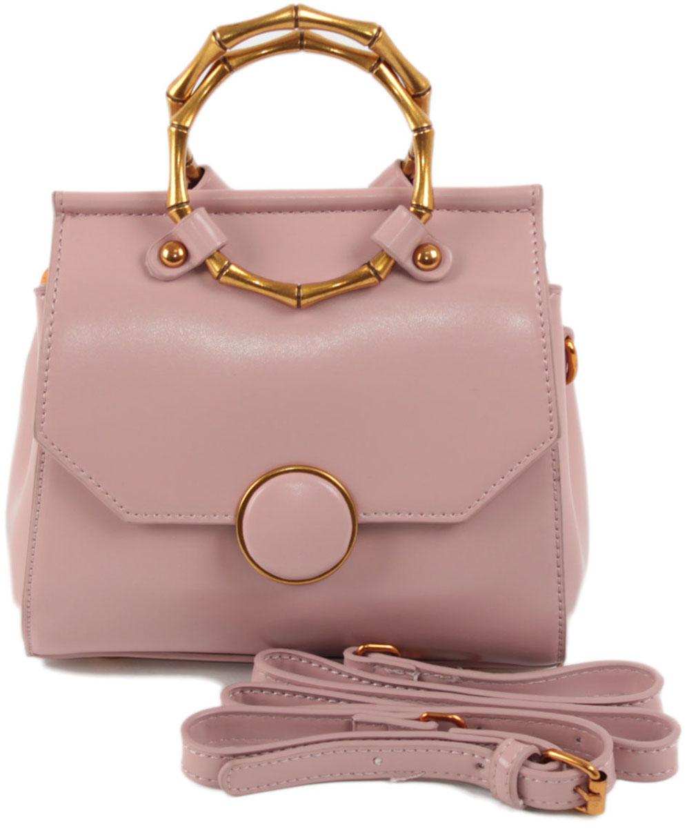 Клатч женский Flioraj, цвет: розовый. 8581BM8434-58AEЗакрывается на магнитную кнопку. Внутри два отделения, карман на молнии. В комплекте наплечный ремень. Высота ручек 7 см.