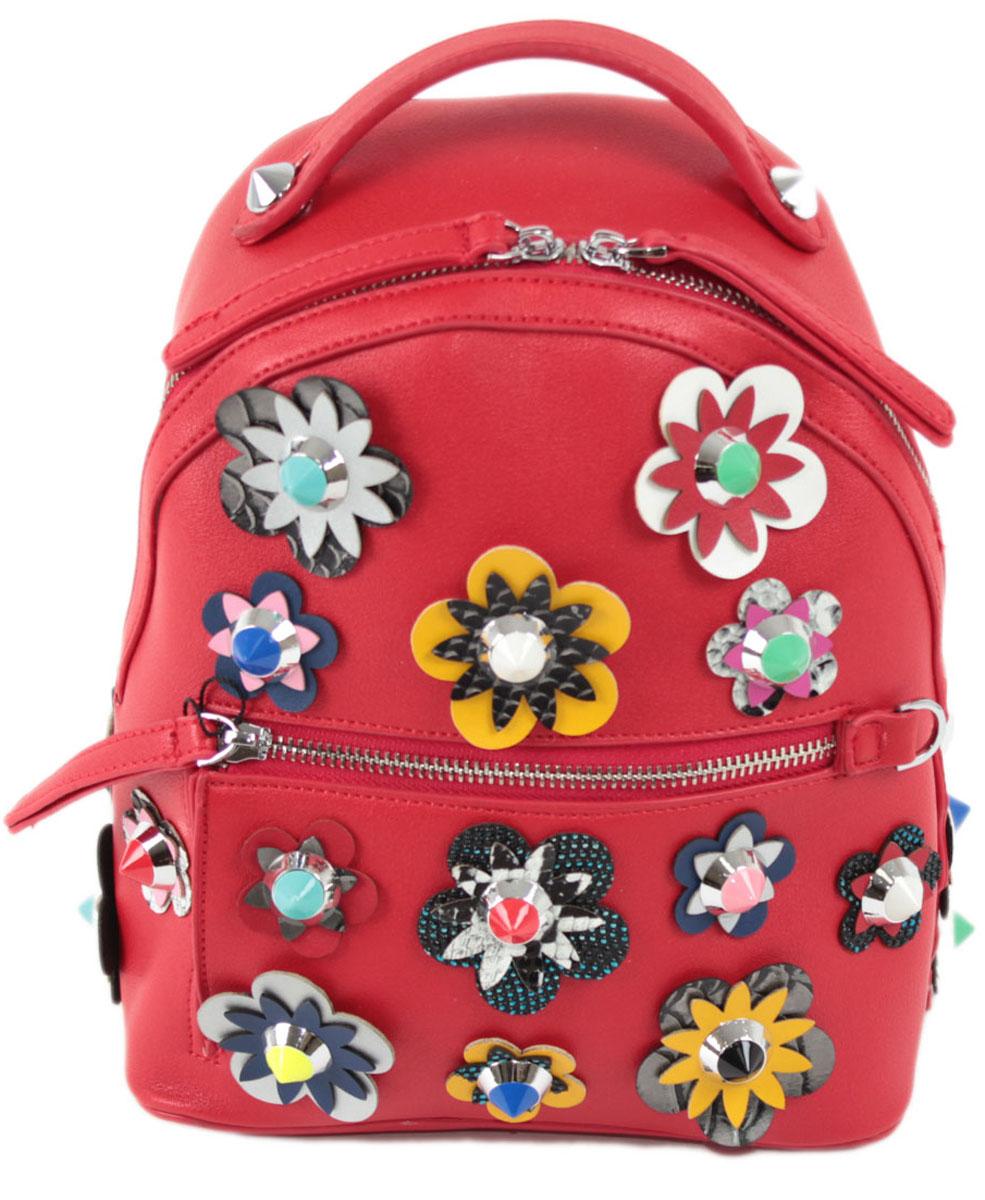 Рюкзак женский Flioraj, цвет: красный. 8157S76245Закрывается на молнию. Внутри одно отделение, открытый карман, карман на молнии, снаружи карман на молнии. Высота ручки 5 см.