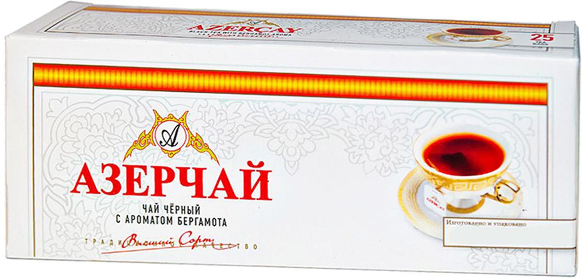 Азерчай чай черный с бергамотом в пакетиках, 25 шт