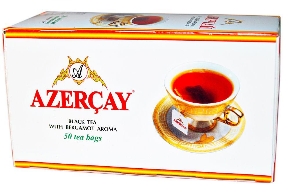 Азерчай чай черный с бергамотом в пакетиках, 50 шт101246Чай черный с ароматом бергамота. Способ приготовления: положить в чашку по одному пакетику на человека. Залить кипятком и настаивать 2-3 минуты.