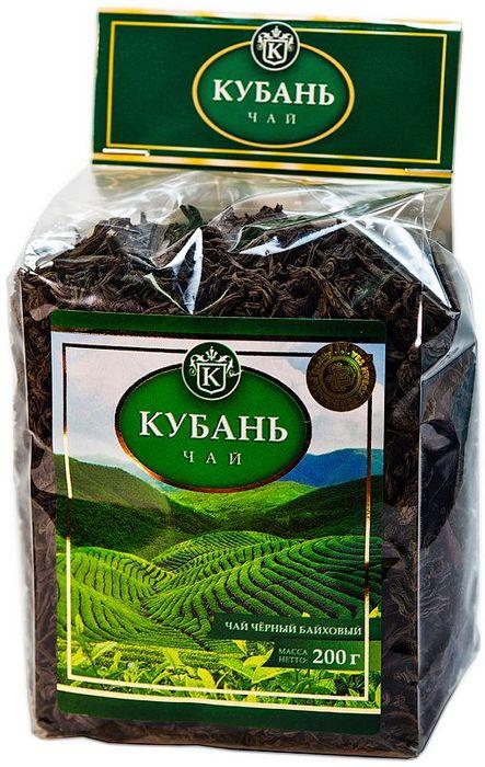 Кубань чай черный листовой, 200 г4630006820584Листовой черный чай высшего сорта. Способ приготовления: в сухой разогретый чайник добавить чай из расчета 2 чайные ложки на 200 мл воды. Настаивать 6-7 минут.