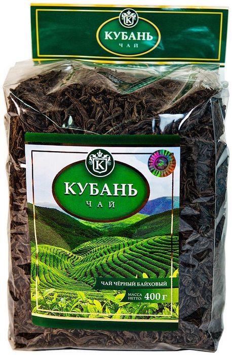 Кубань чай черный листовой, 400 г0120710Листовой черный чай высшего сорта. Способ приготовления: в сухой разогретый чайник добавить чай из расчета 2 чайные ложки на 200 мл воды. Настаивать 6-7 минут.