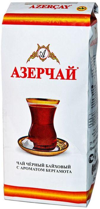 Азерчай чай черный листовой, 250 г0120710Черный байховый чай с ароматом бергамота. Хранить в сухом помещении от пахучих веществ, при относительной влажности не более 70%. Способ приготовления: в сухой разогретый чайник добавить чай из расчета 2 чайные ложки на каждые 200 мл воды, залить чайник кипятком и дать настояться 6-7 минут.