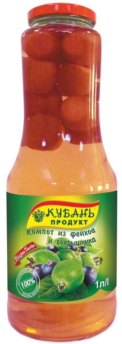 Кубань Продукт компот из фейхоа с боярышником, 1 л0120710Компот Кубань Продукт изготовлен исключительно из натурального сырья. В нём содержатся витамины.