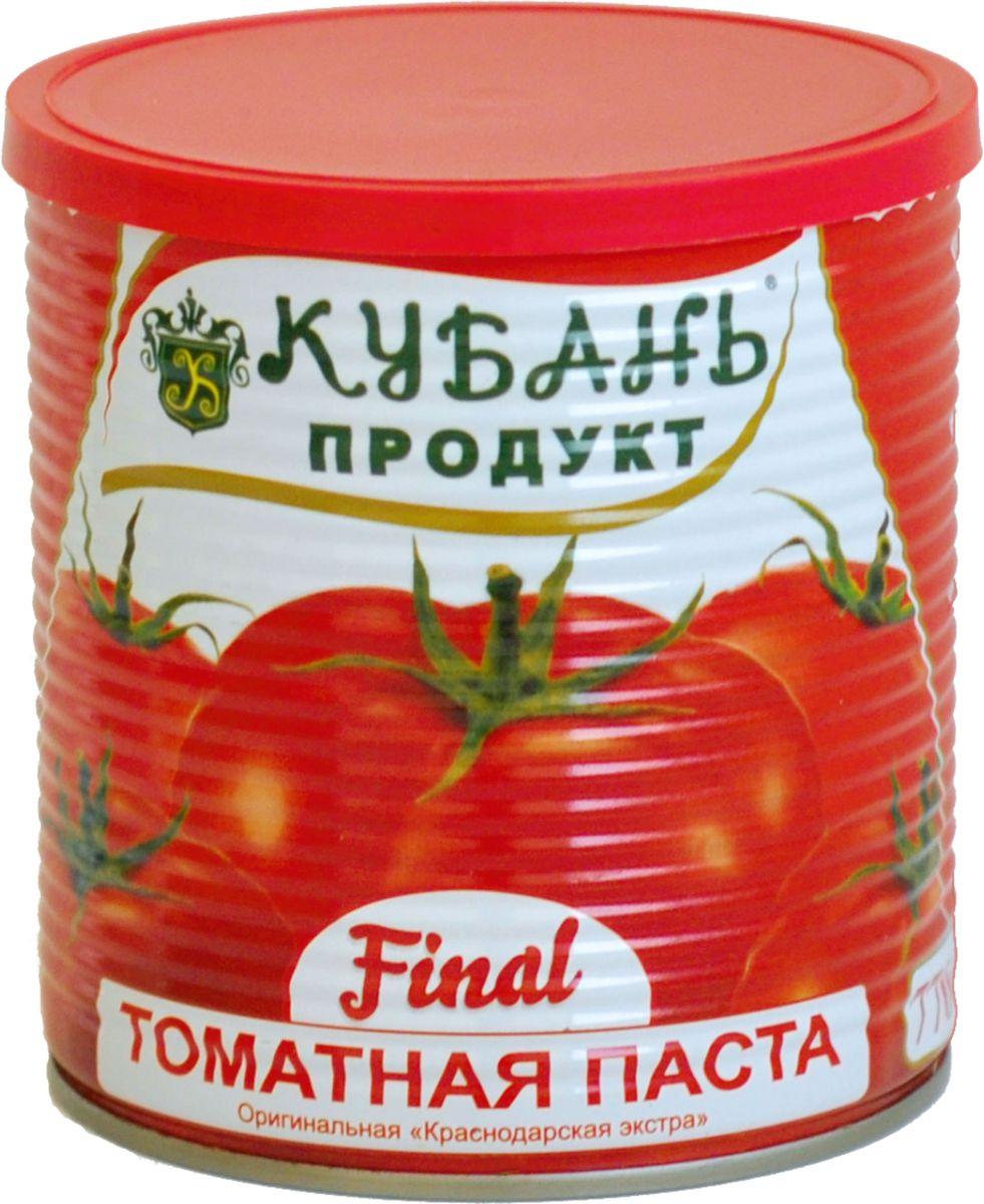 Кубань Продукт паста томатная, 770 г4630006825329Томатная паста Кубань Продукт приготовлена только из отборных российских томатов. Очень густая, с насыщенным цветом и ароматом свежих томатов.
