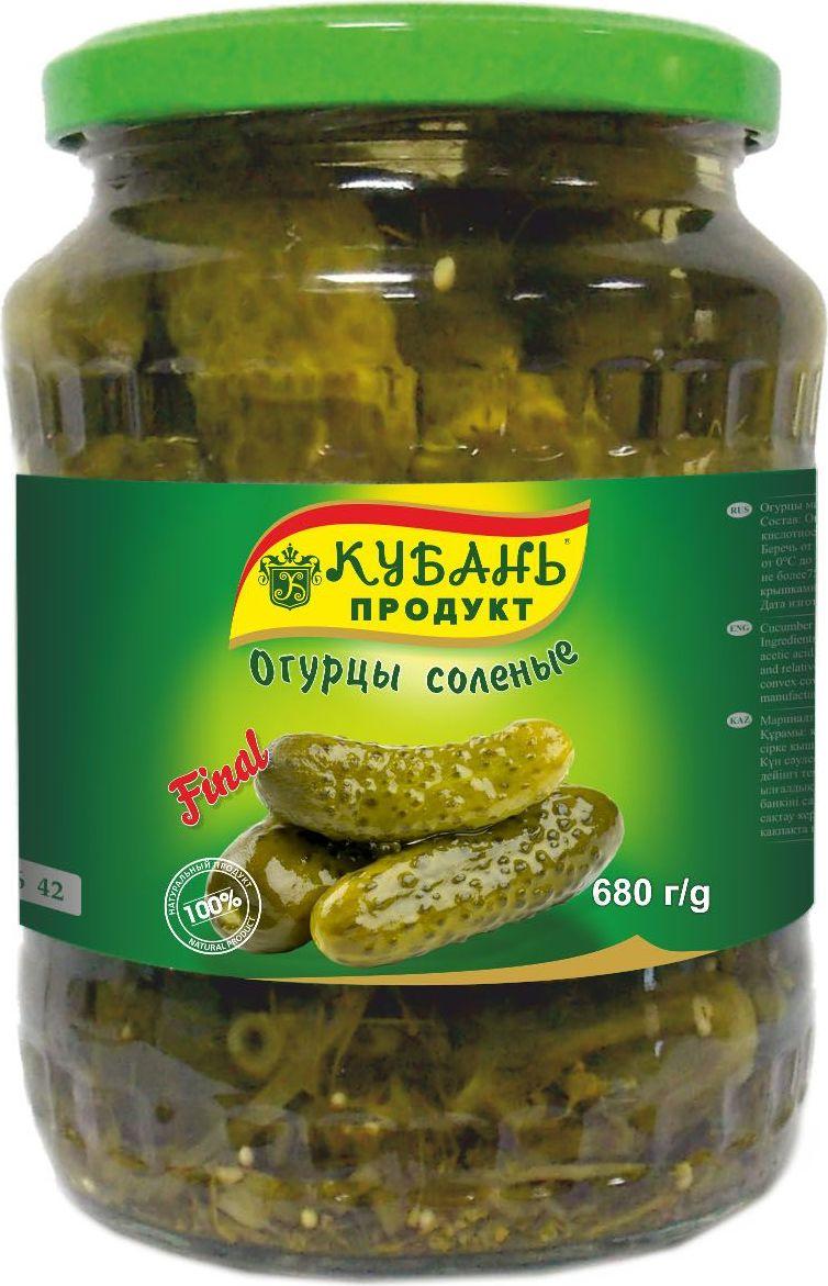 Кубань Продукт огурцы соленые, 680 г